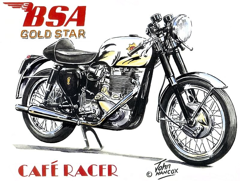 BSA Gold Star 1960s Cafe Racer British Rocker Motorbike