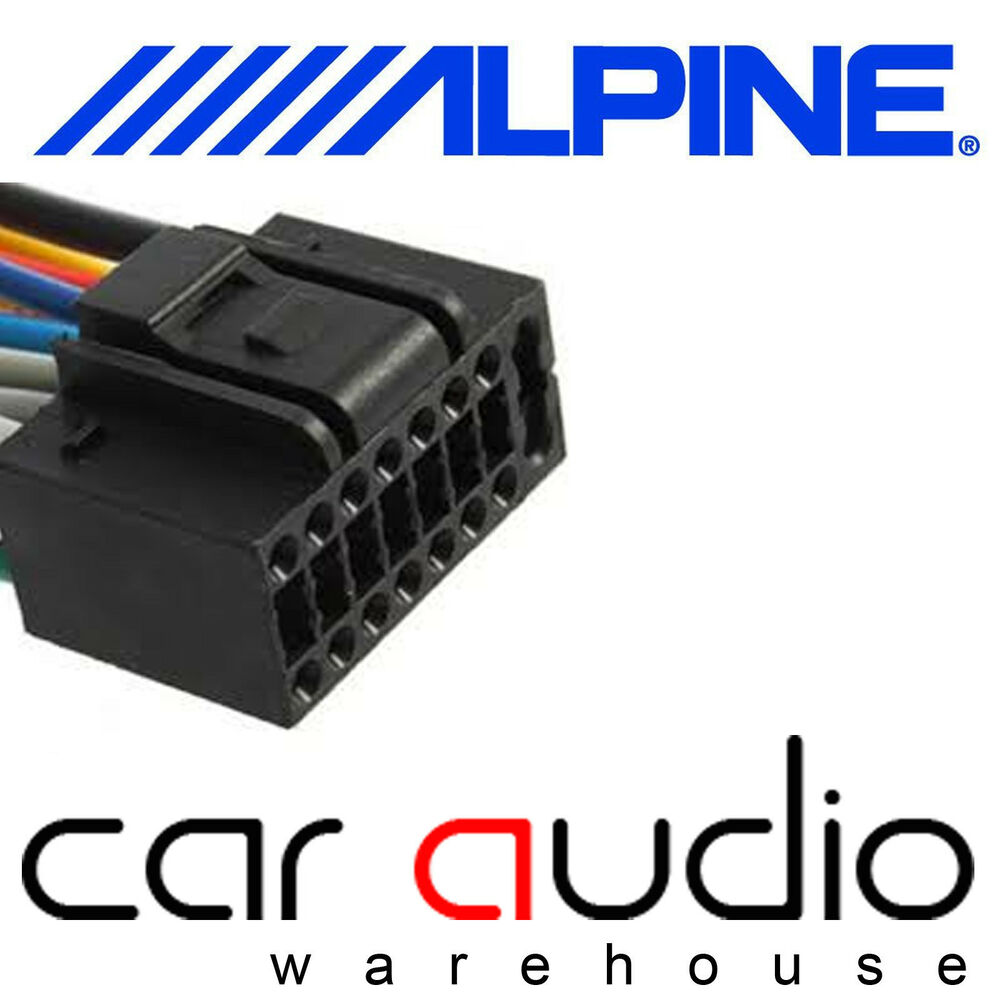 medium resolution of details about autoleads pc3 462 alpine 16 pin iso car stereo radio wiring harness lead cable