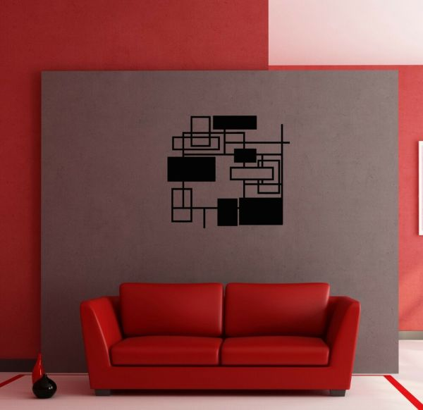 Wall Stickers Vinyl Decal Modern Abstract Geometrical