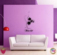 Wall Sticker Vine Wine List Bottle of Wine Cool Modern