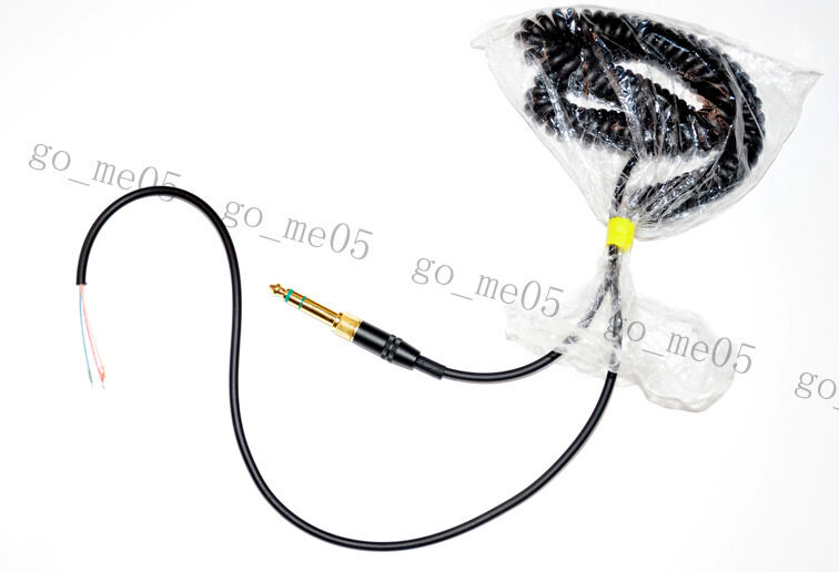 New DJ headphone cable cord line with PLUG for repairing