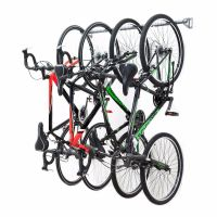 Monkey Bar Wall Bike Rack Mounts 4 Bikes Garage Vertical