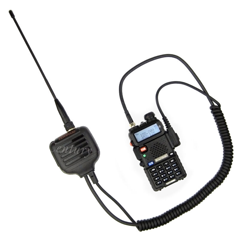 Dual Band Antenna Speaker Mic Shoulder for Baofeng UV5R