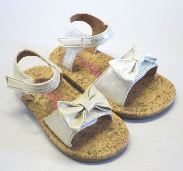 Girl Dress Sandals With Bow Carat Toddler Gold Silver