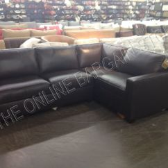 Reversible Sectional Sofas With Chaise Sofa And Chair Set Up Pottery Barn West Elm Henry Couch Brown ...