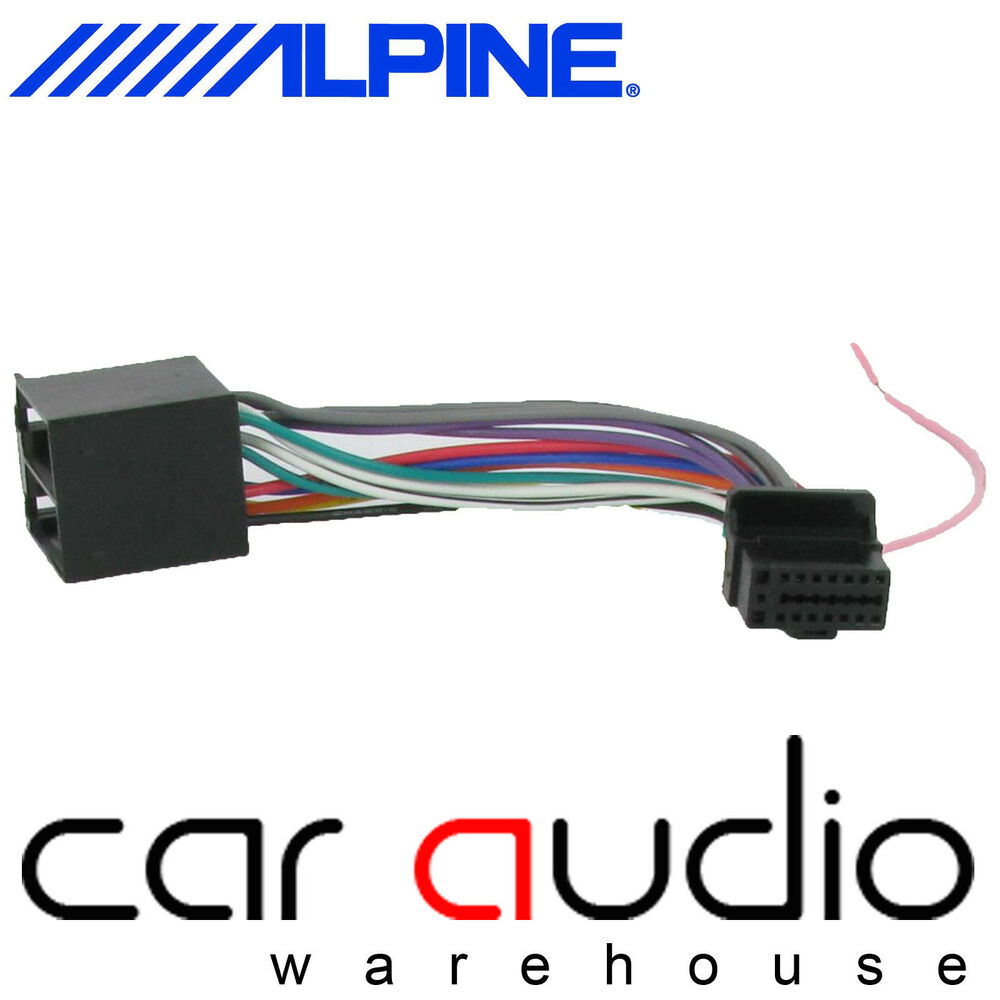 hight resolution of details about alpine 16 pin iso car stereo radio wiring harness lead cable connects2 ct21al01