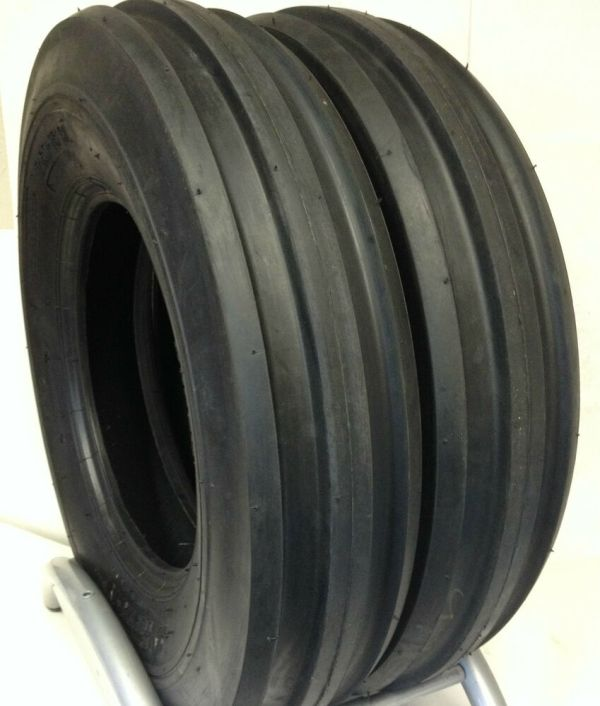 Two 750-16 Case Ih 585 Tractor 3 Rib Tires F2 . 7.50-16