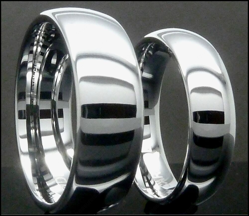Mens  Womens Tungsten Carbide Ring Plain Mirrored Wedding