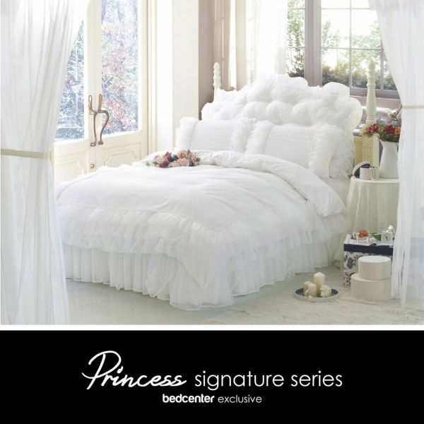 White Ruffle Bedding Set Queen