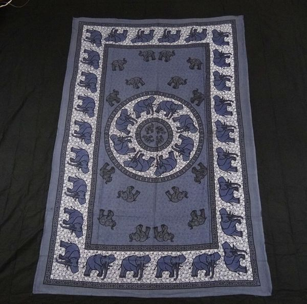 INDIAN ELEPHANT TAPESTRY BED SHEET BED SPREAD WALLHANGING