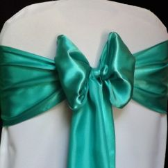 Banquet Chair Covers Ebay Baseball Folding Tent 100 Teal Satin Cover Sash Bows 6