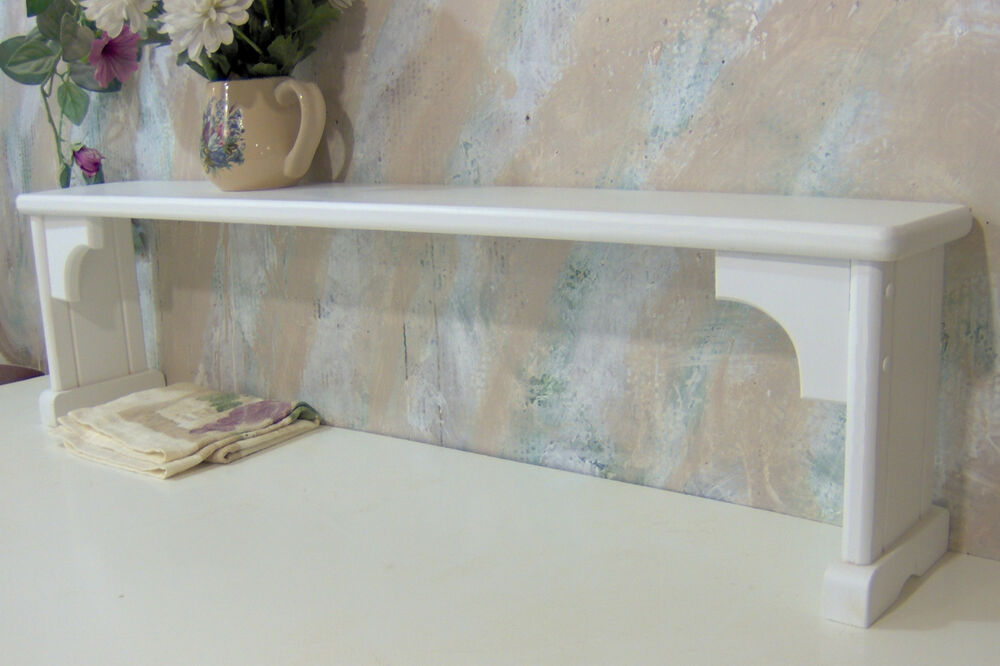 Over The Sink Shelf For Plants Extra Area White Solid Wood