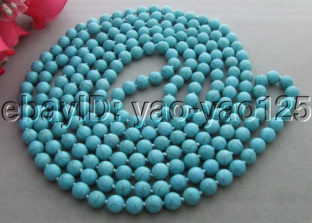 "R022707 Excellent! 100"" Turquoise Necklace  Ebay"