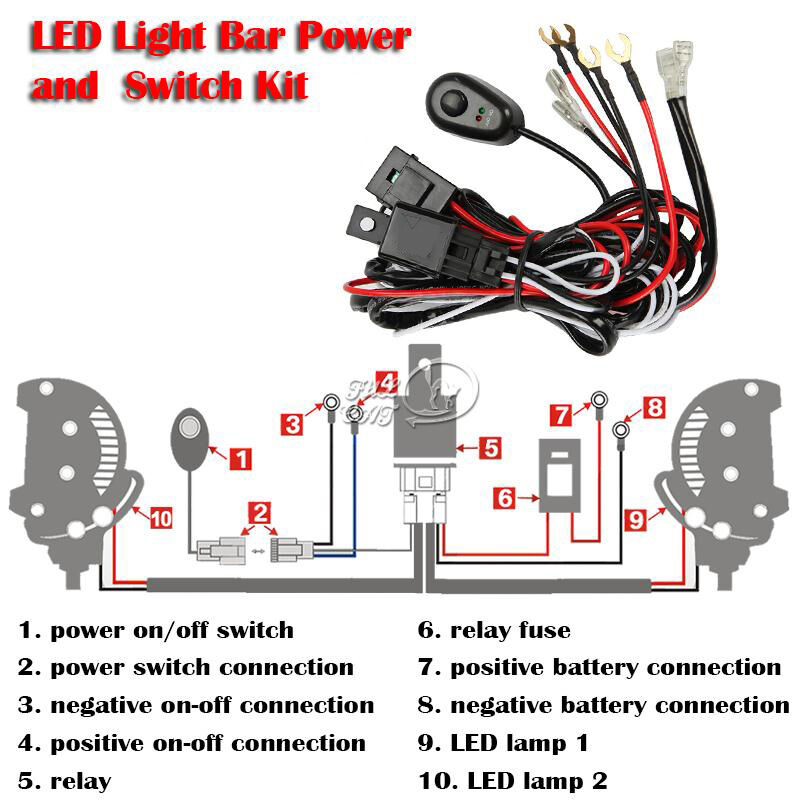 Led Light Bar Wiring Diagram Switch How To Wire A Light Bar To A