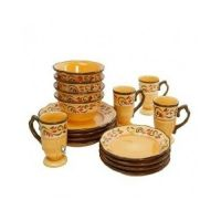STONEWARE DINNERWARE SET, MULTI-COLOR UNIQUE ITALIAN LOOK ...