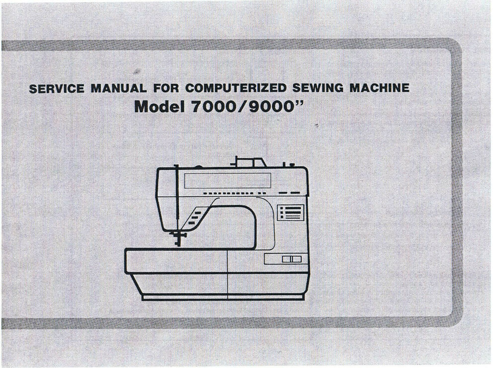 Baby Lock 7000 9000 Sewing Machine Service Repair Manual