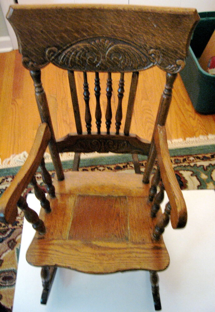 Doll and Antique Rocking Chair  eBay
