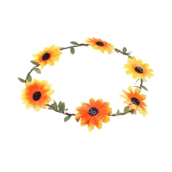 sunflower hair garland festival