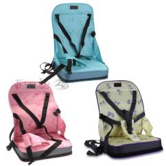 Infant Feeding Chair Blue High Back Chairs Portable Baby Toddler Infants Dining Booster Seat Harness Safety | Ebay