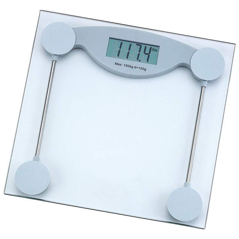 330lb Electronic Body Weight Scale Tempered Glass LCD