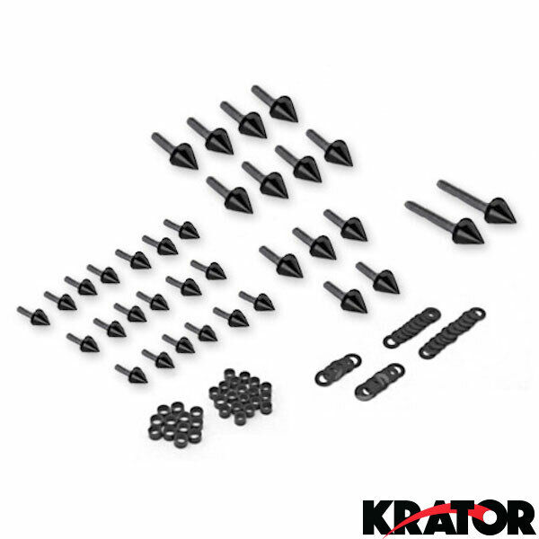 Motorcycle Spike Fairing Bolts Black Kit For 2003-2004