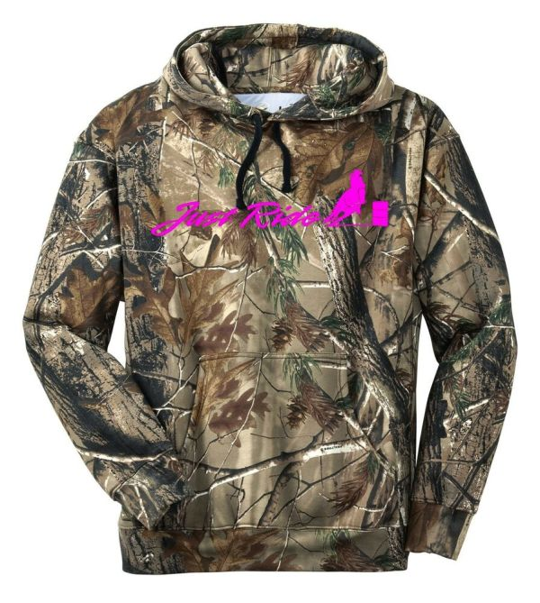 Realtree Camo Camouflage Horse Ride Hoodie Sweat
