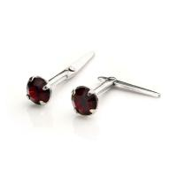 925 Sterling silver & 3mm CZ Crystal Andralok Stud
