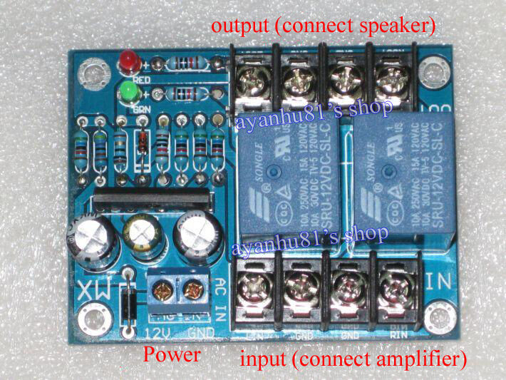 Loudspeaker Time Delay With Dc Protection