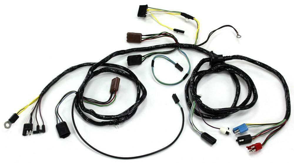 Mustang Head Light Wiring Harness With Tach non GT 1967