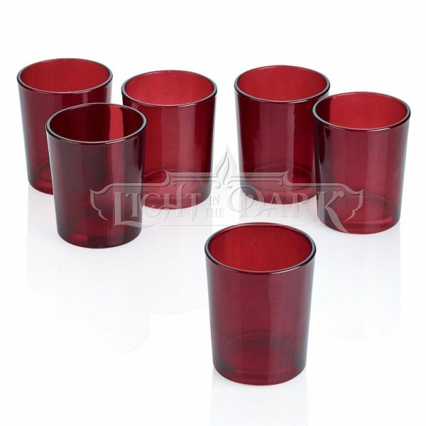 Red Frosted Glass Votive Candle Holders Set Of 72