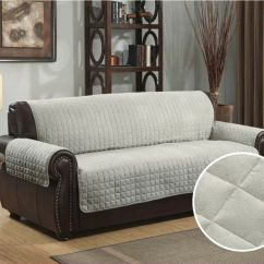 Sage Sofa Slipcovers San Diego Quilted Micro Suede Pet Dog Couch Furniture Protector ...