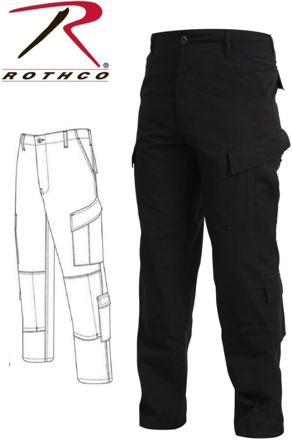 Black Police Military Uniform Tactical Rip-stop Bdu Pants