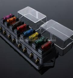 universal car 8 way circuit ato standard blade fuse build universal car fuse box 12v fuse [ 1000 x 1000 Pixel ]
