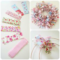 Make Your Own Handmade Shabby Chic EASTER RAG WREATH inc