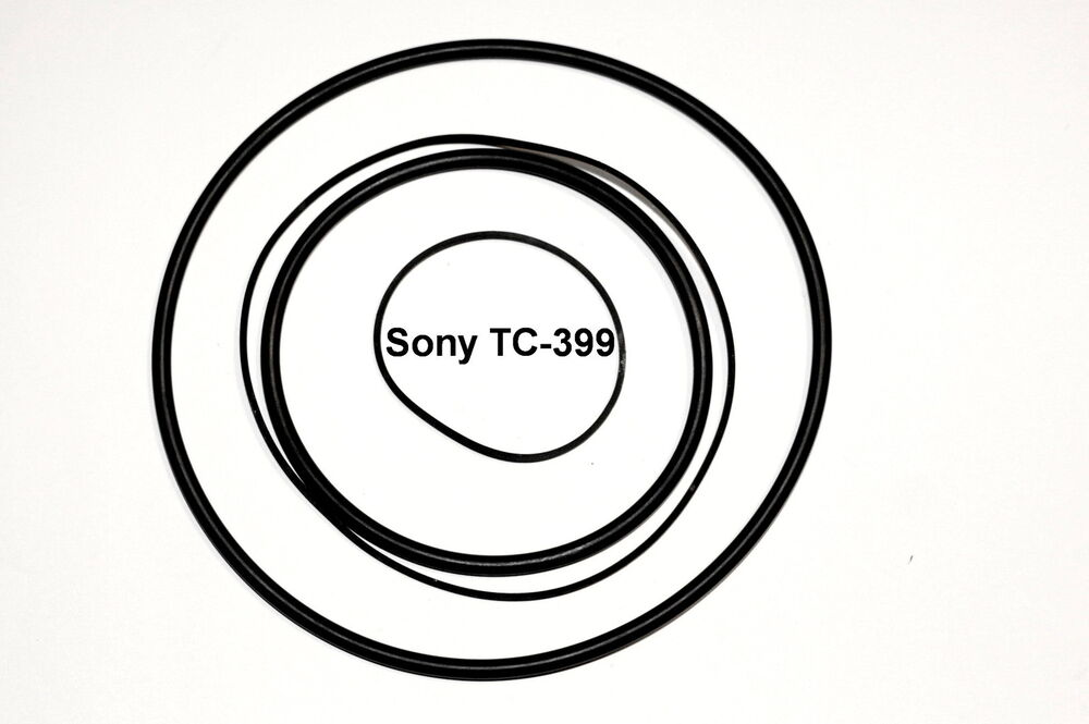 COURROIES SET SONY TC399 MAGNETOPHONE A BANDE EXTRA FORT