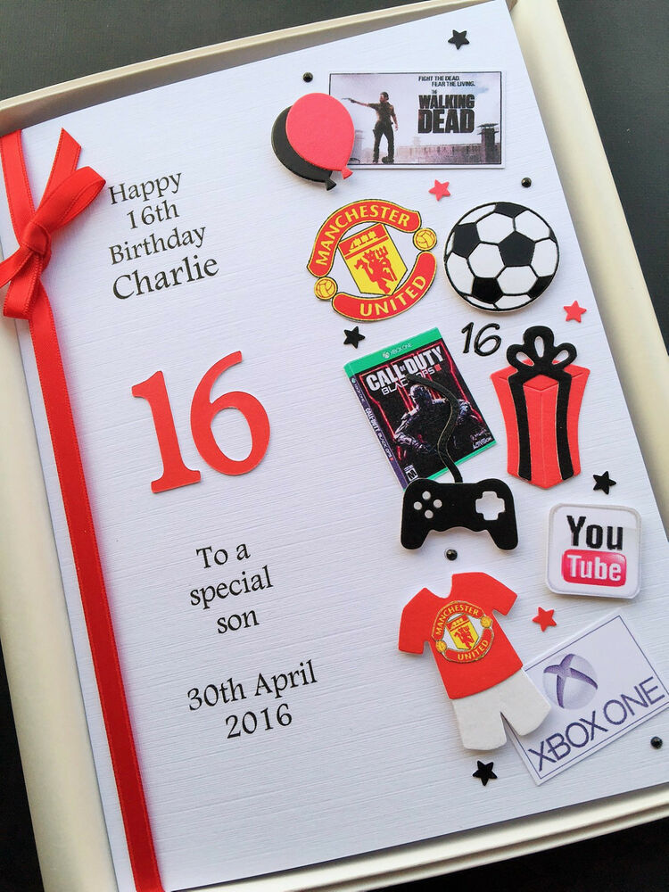 PERSONALISED 13th 14th 15th 16th BIRTHDAY CARD FOR BOYS