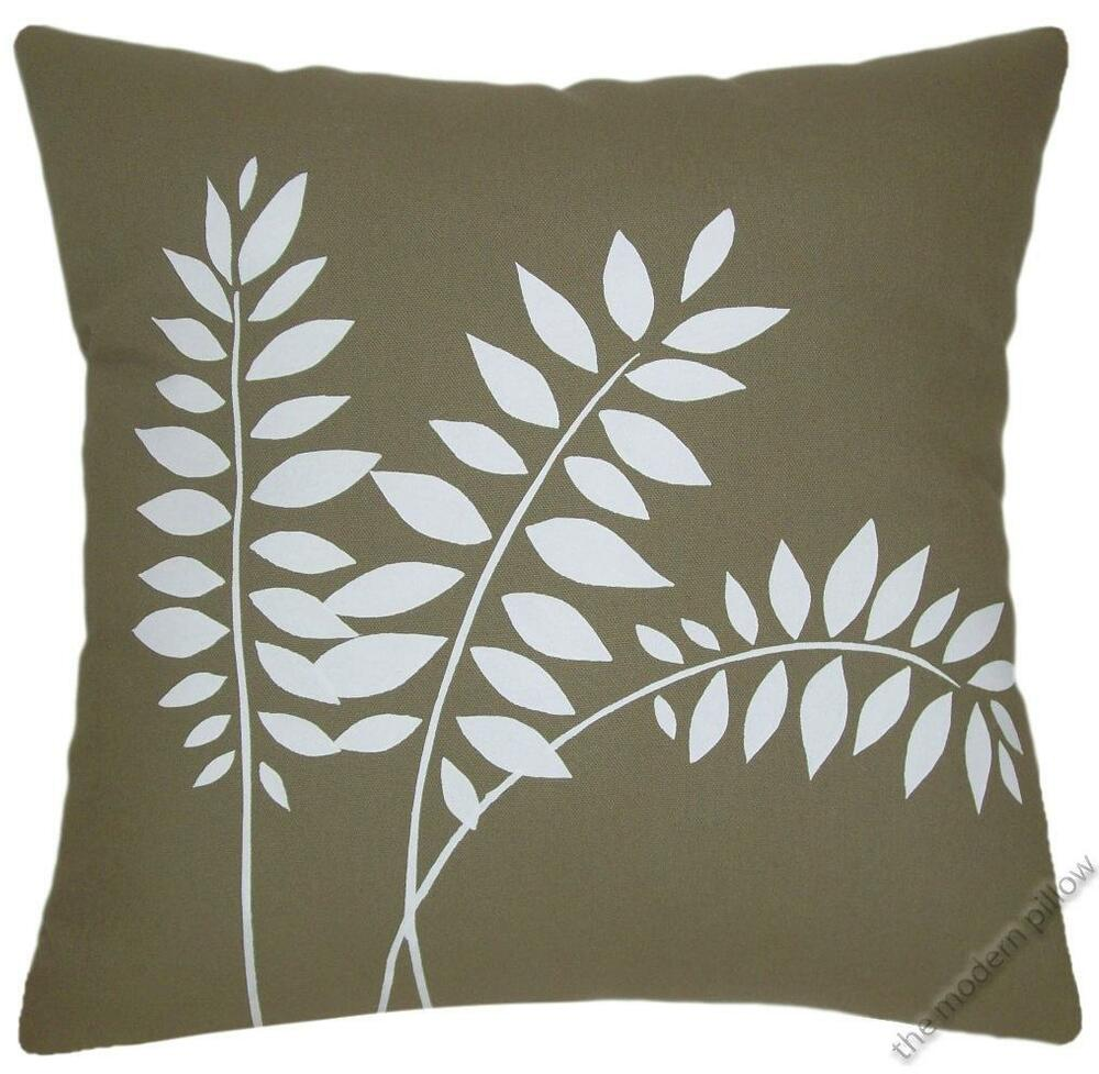 Moss Green Wheat Stalk Decorative Throw Pillow CoverCushion Cover 20x20  eBay
