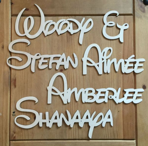Wooden Name Letters Sign