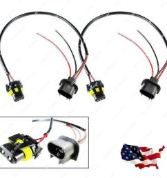 details about 2pcs h13 9008 sockets to 9006 bulbs headlight conversion adapter wire [ 1000 x 1000 Pixel ]