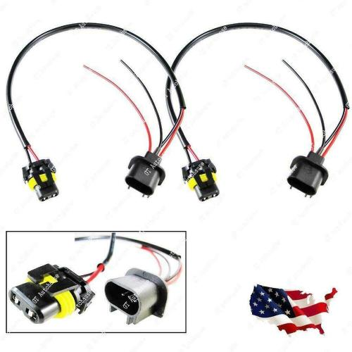 small resolution of details about 2pcs h13 9008 sockets to 9006 bulbs headlight conversion adapter wire