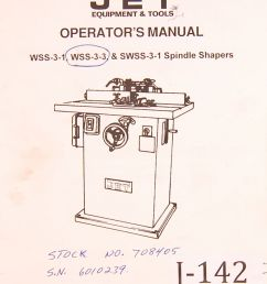 jet wss 3 1 wss0303 swss0301 spindle shapers operations parts manual 1995 ebay [ 789 x 1000 Pixel ]