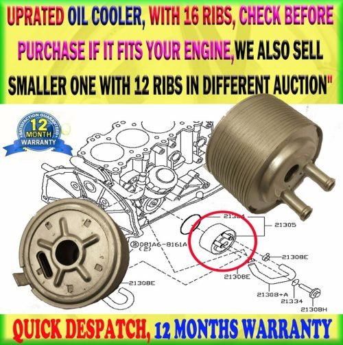 small resolution of details about for nissan navara d22 2 5 navara d40 pathfinder r51 16 ribs engine oil cooler