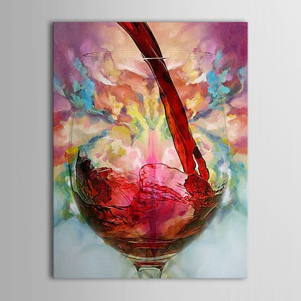 Wine Glass Paintings On Canvas