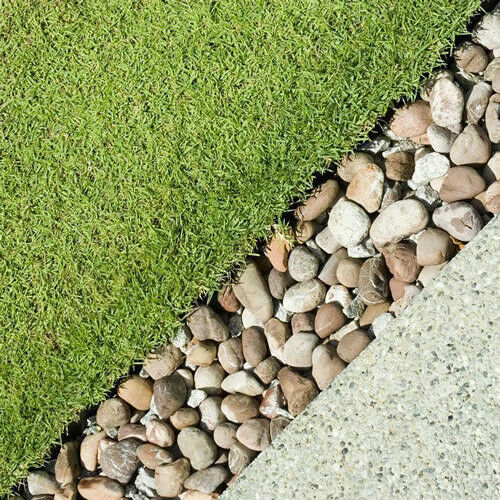 4 pebble border garden edging strips