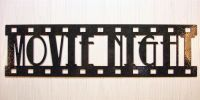 Movie Night, New Metal Wall Art, Home Theater Decor