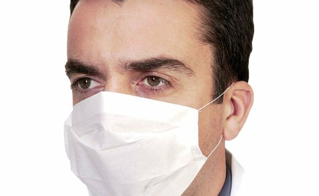 100 X Disposable Professional 2 Ply Paper Earloop Face
