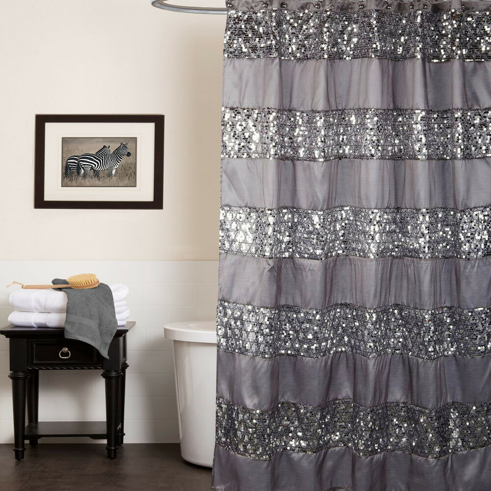Popular Bath Sinatra Silver Collection  70 x 72 Bathroom Shower Curtain  eBay