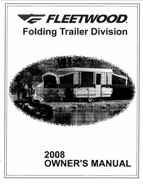 FLEETWOOD Popup Trailer Owners Manual- 2008 Evolution E3