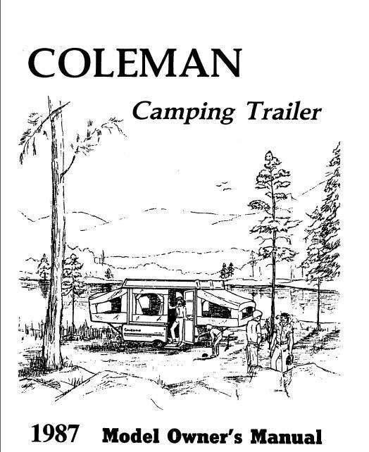 COLEMAN Popup Trailer Owners Manual-1987 Columbia Laramie