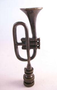 Lamp Finial Bronze Trumpet Topper (1472) | eBay